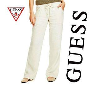 Guess Cream Linen Pants